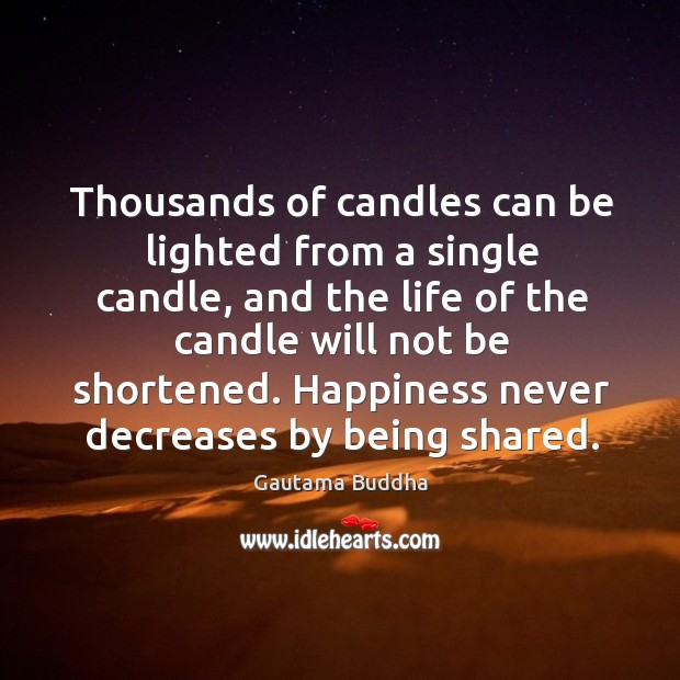 Image, Thousands of candles can be lighted from a single candle.