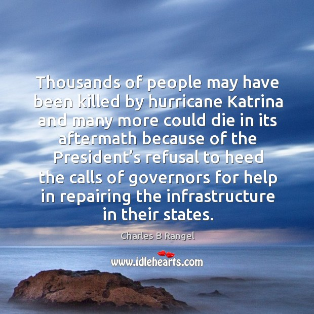 Thousands of people may have been killed by hurricane katrina and many more could Image