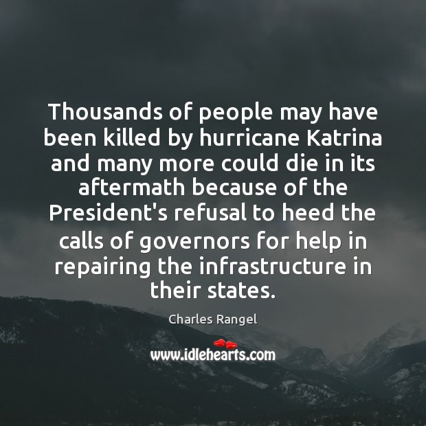 Image, Thousands of people may have been killed by hurricane Katrina and many