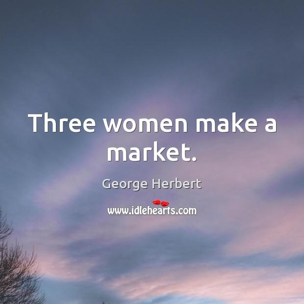 Three women make a market. Image