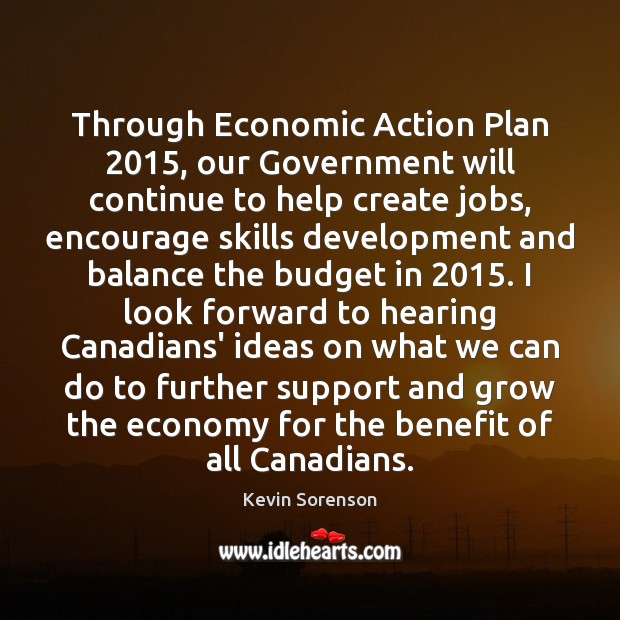 Through Economic Action Plan 2015, our Government will continue to help create jobs, Image