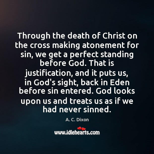 Image, Through the death of Christ on the cross making atonement for sin,