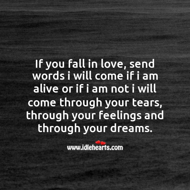 Through your feelings Love Messages Image