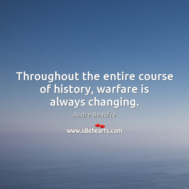 Image, Throughout the entire course of history, warfare is always changing.