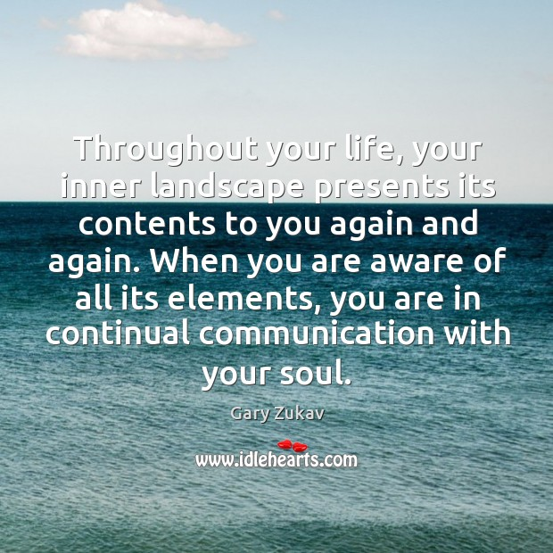 Throughout your life, your inner landscape presents its contents to you again Image