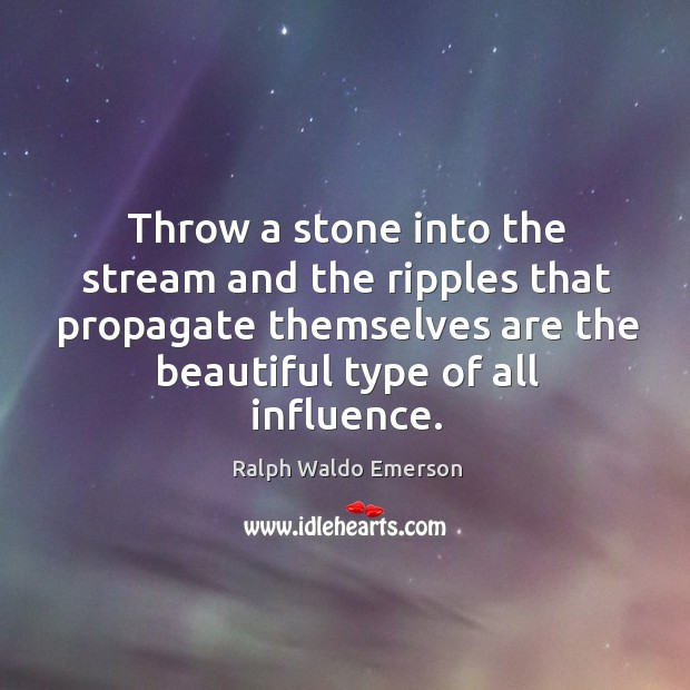 Throw a stone into the stream and the ripples that propagate themselves Image