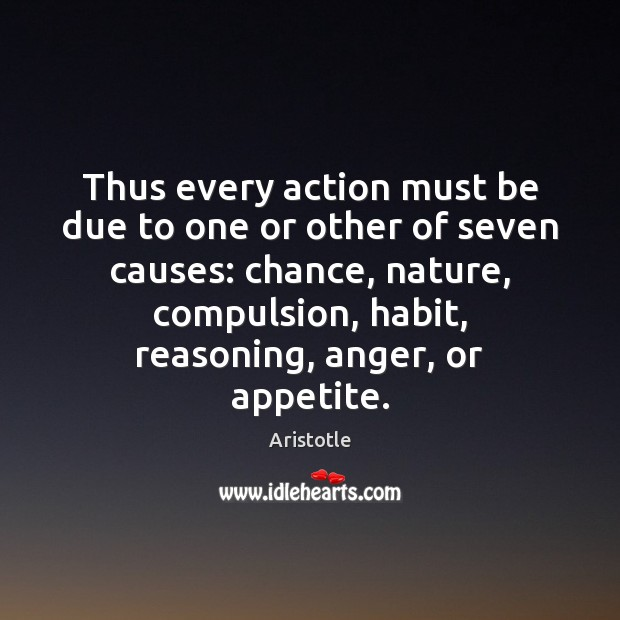 Image, Thus every action must be due to one or other of seven
