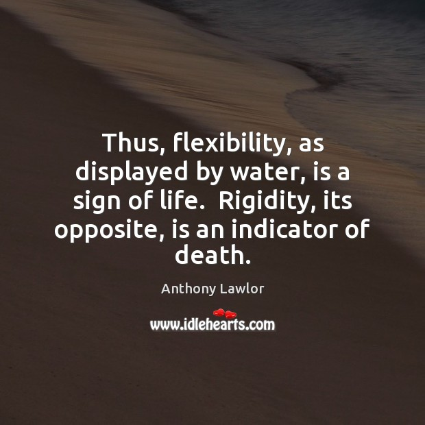 Image, Thus, flexibility, as displayed by water, is a sign of life.  Rigidity,