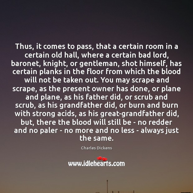 Image, Thus, it comes to pass, that a certain room in a certain