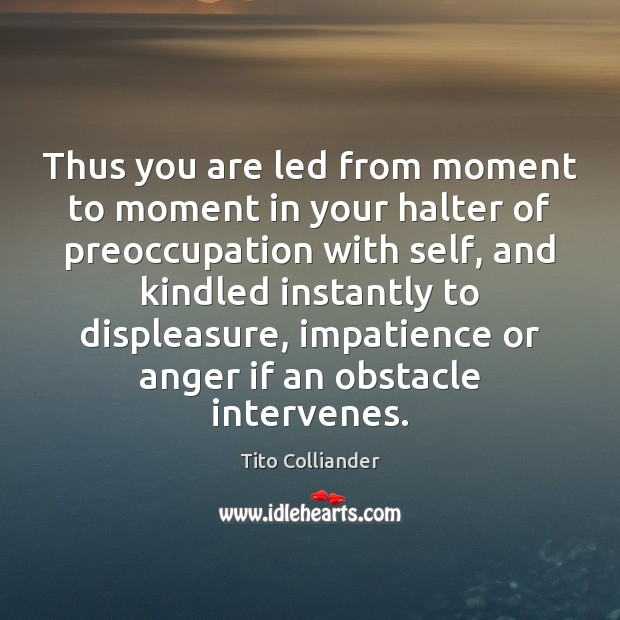 Image, Thus you are led from moment to moment in your halter of
