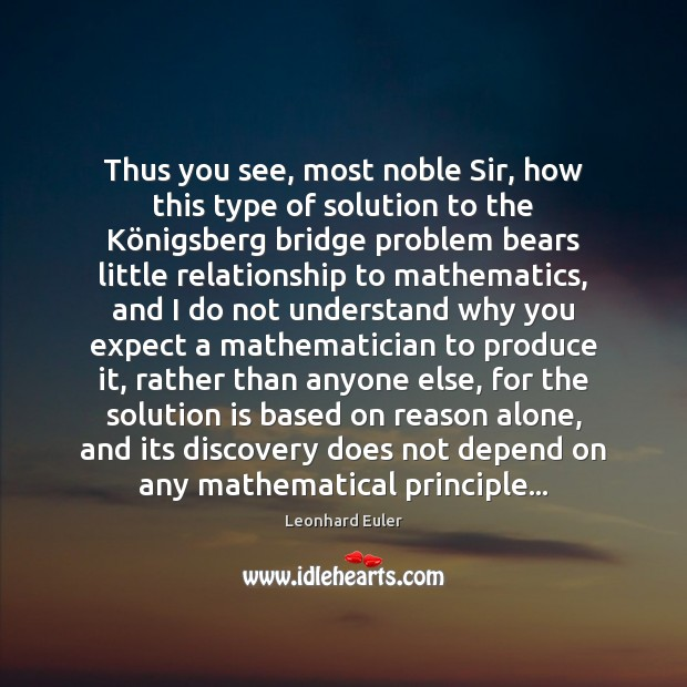 Thus you see, most noble Sir, how this type of solution to Solution Quotes Image