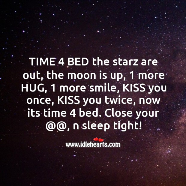 Time 4 bed the starz are out Image