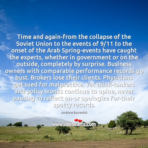 Time and again-from the collapse of the Soviet Union to the events Image