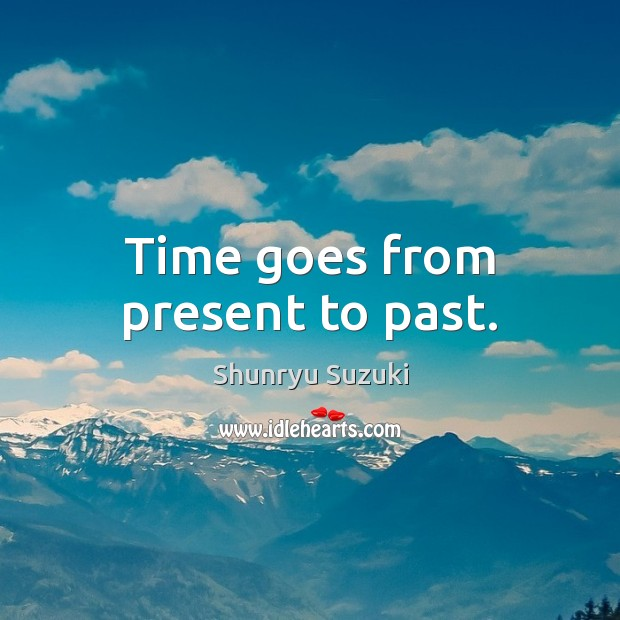 Image, Time goes from present to past.