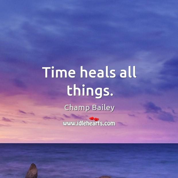 time heals