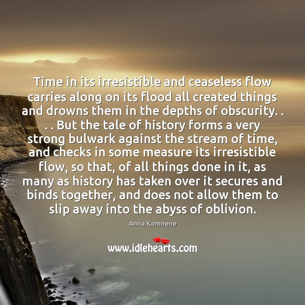 Time in its irresistible and ceaseless flow carries along on its flood Image
