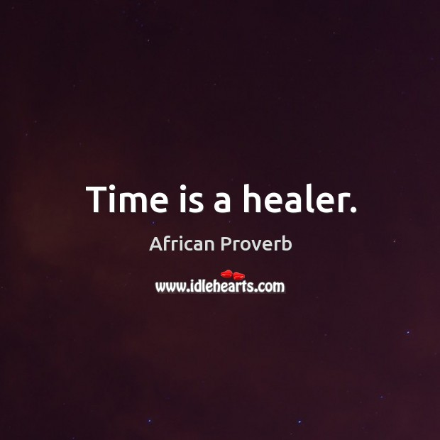 Time is a healer. Image