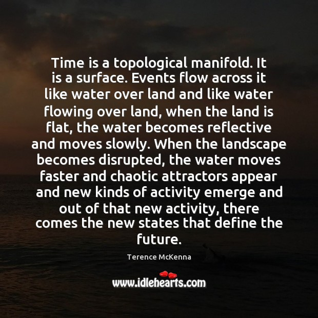 Time is a topological manifold. It is a surface. Events flow across Image
