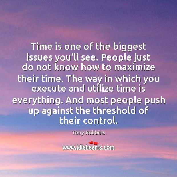 Image, Time is one of the biggest issues you'll see. People just do