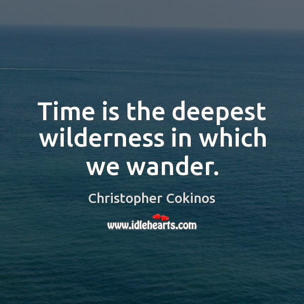 Time is the deepest wilderness in which we wander. Time Quotes Image