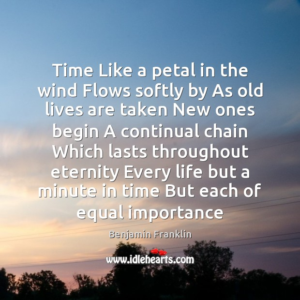 Time Like a petal in the wind Flows softly by As old Image