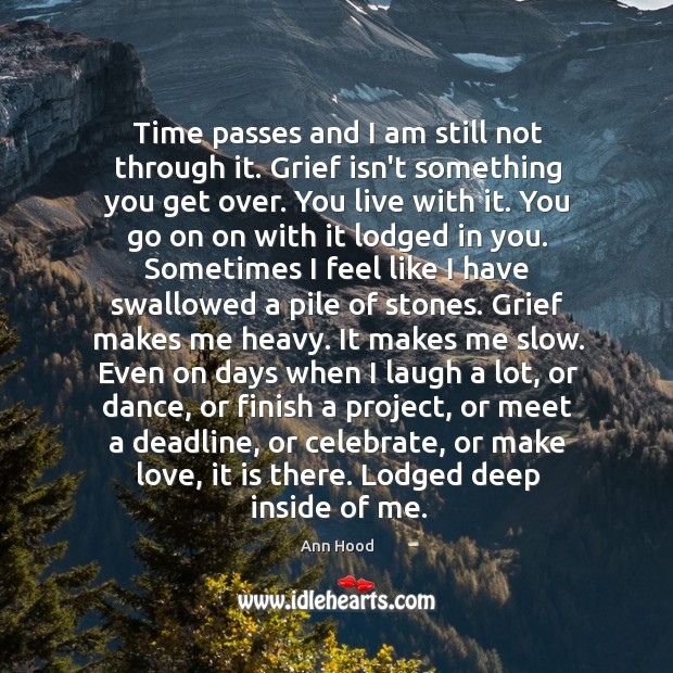 Image, Time passes and I am still not through it. Grief isn't something
