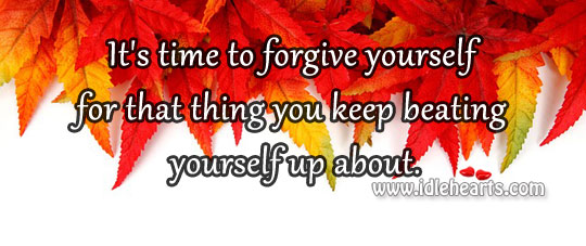 Image, Time to forgive yourself