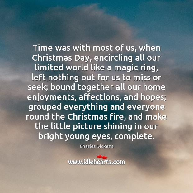 Image, Time was with most of us, when Christmas Day, encircling all our