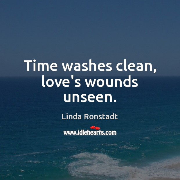 Image, Time washes clean, love's wounds unseen.