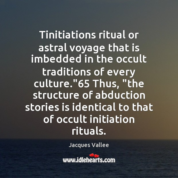 Image, Tinitiations ritual or astral voyage that is imbedded in the occult traditions