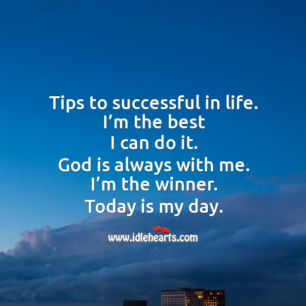 Image, Tips to be successful in life.