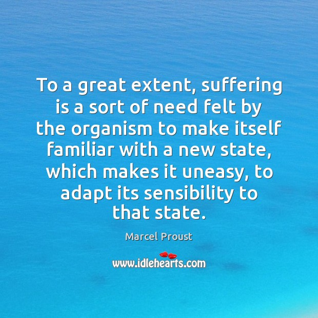 To a great extent, suffering is a sort of need felt by Image