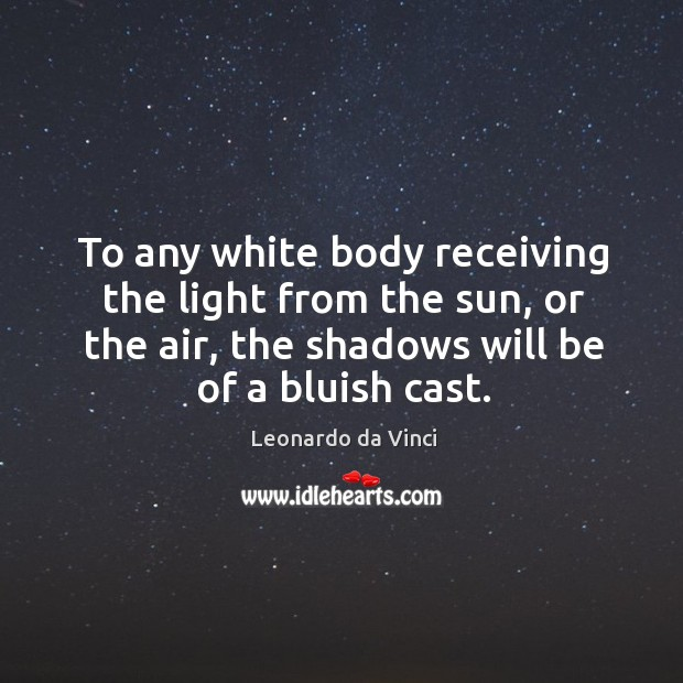 To any white body receiving the light from the sun, or the Image