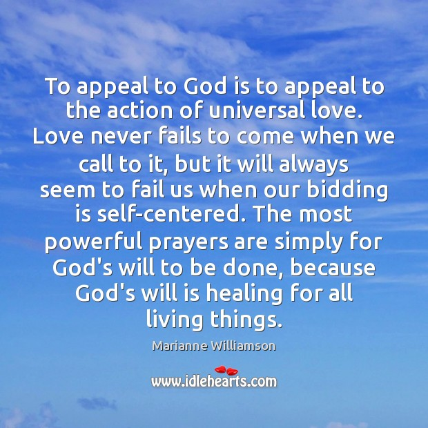 Image, To appeal to God is to appeal to the action of universal