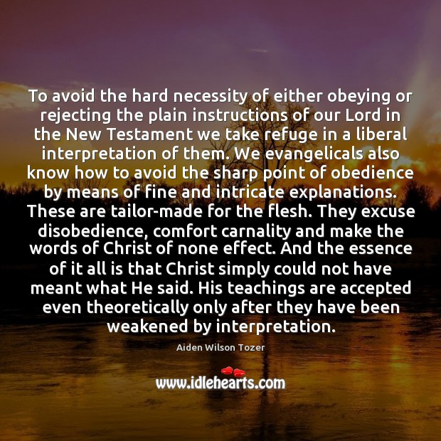 To avoid the hard necessity of either obeying or rejecting the plain Image