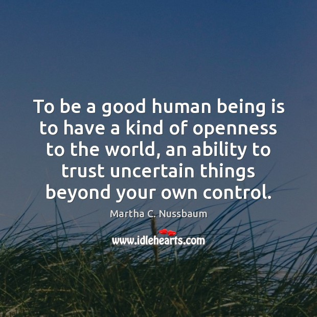 Image, To be a good human being is to have a kind of