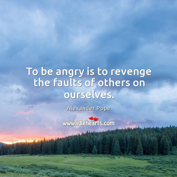 To be angry is to revenge the faults of others on ourselves. Image