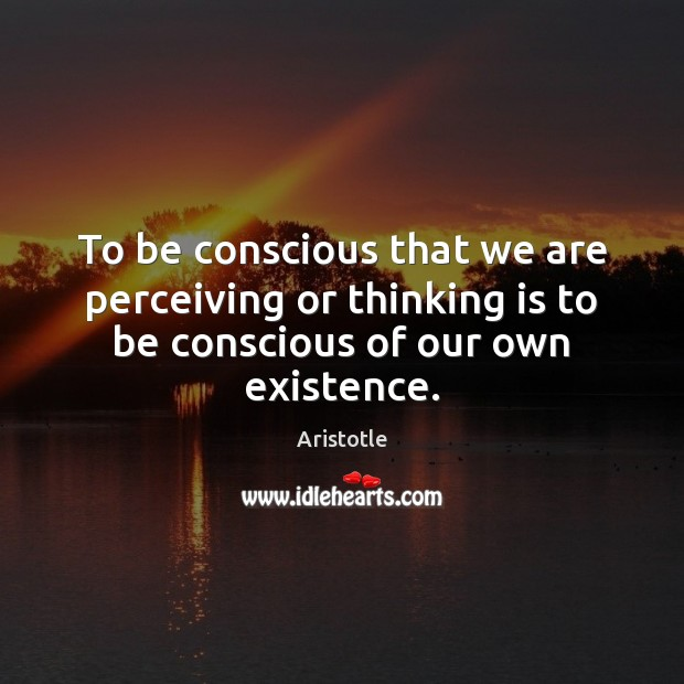 Image, To be conscious that we are perceiving or thinking is to be