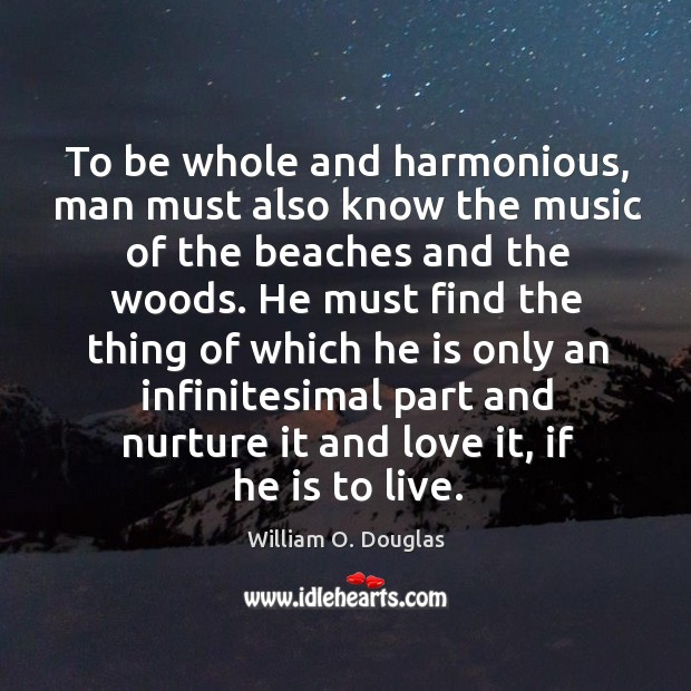 To be whole and harmonious, man must also know the music of Image