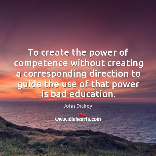 Image, To create the power of competence without creating a corresponding direction
