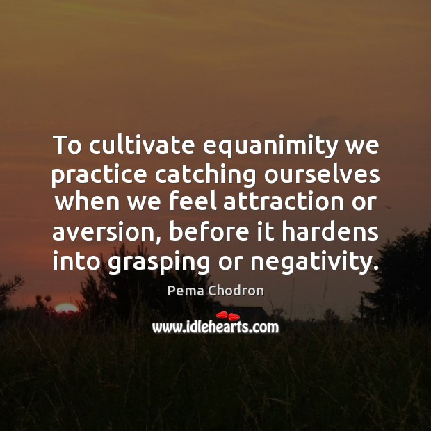Image, To cultivate equanimity we practice catching ourselves when we feel attraction or