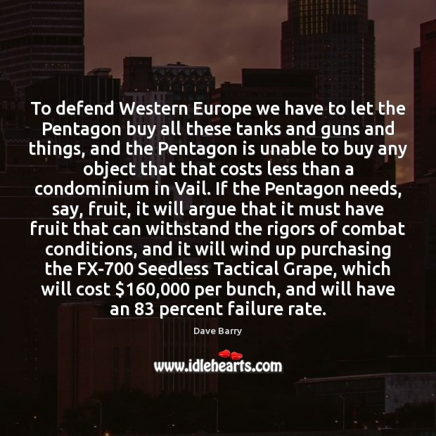 To defend Western Europe we have to let the Pentagon buy all Image