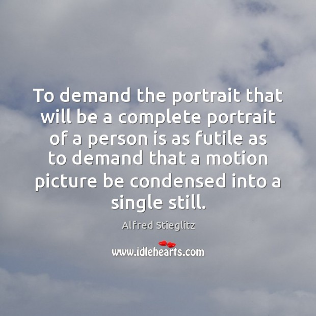 Image, To demand the portrait that will be a complete portrait of a