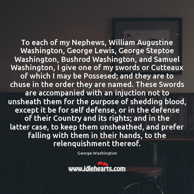 Image, To each of my Nephews, William Augustine Washington, George Lewis, George Steptoe