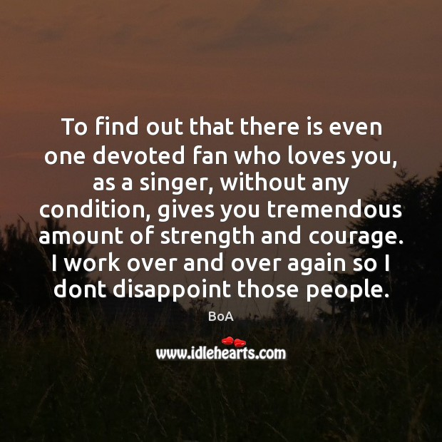 To find out that there is even one devoted fan who loves Image