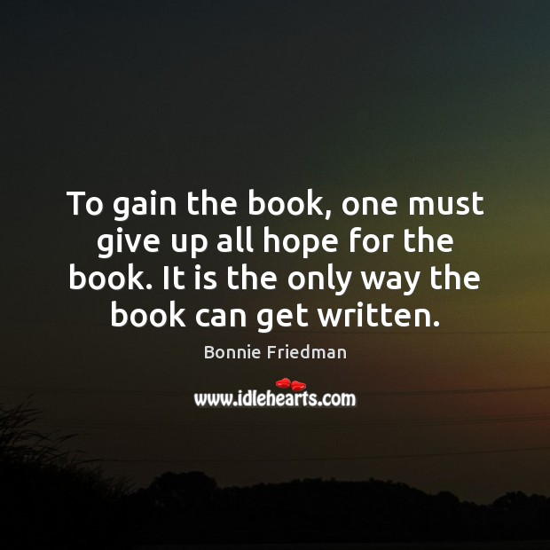 To gain the book, one must give up all hope for the Image