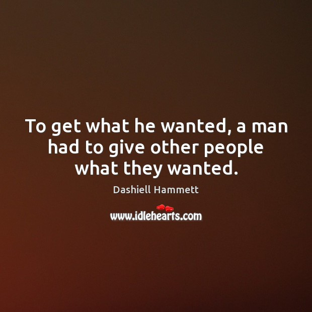 Picture Quote by Dashiell Hammett
