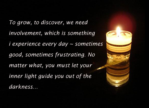 To grow, discover, we need involvement. Let your inner light guide Image