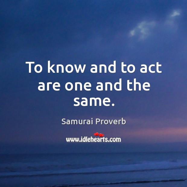 Samurai Proverbs