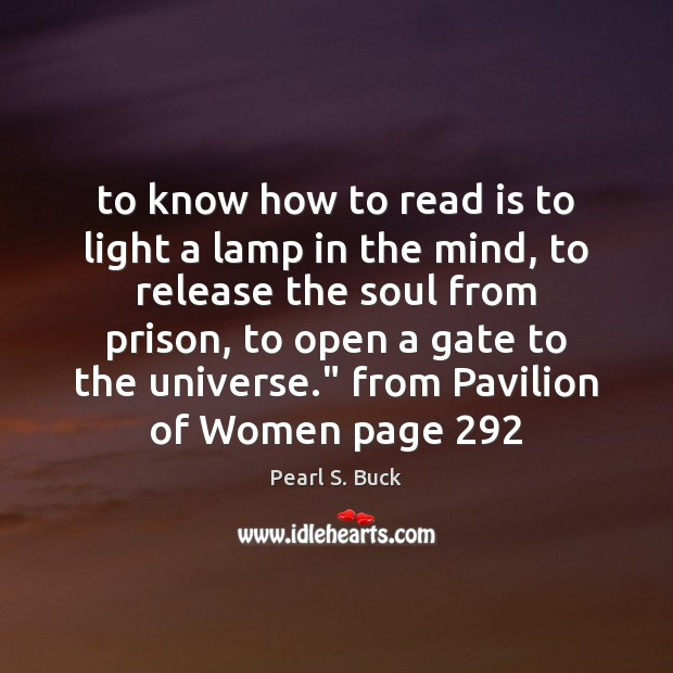 To know how to read is to light a lamp in the Image